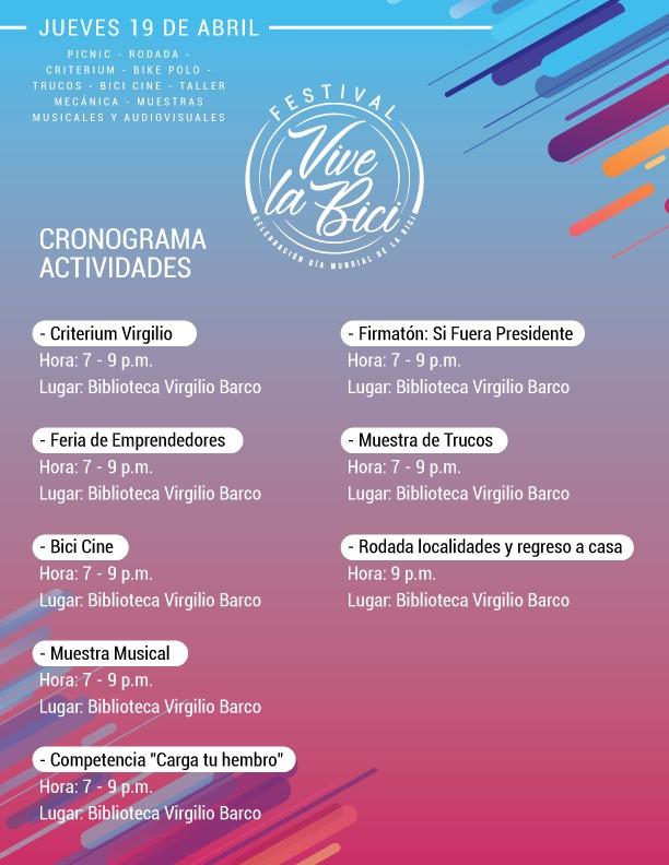 FESTIVAL VIVE LA BICI - PROGRAMACIÓN 001