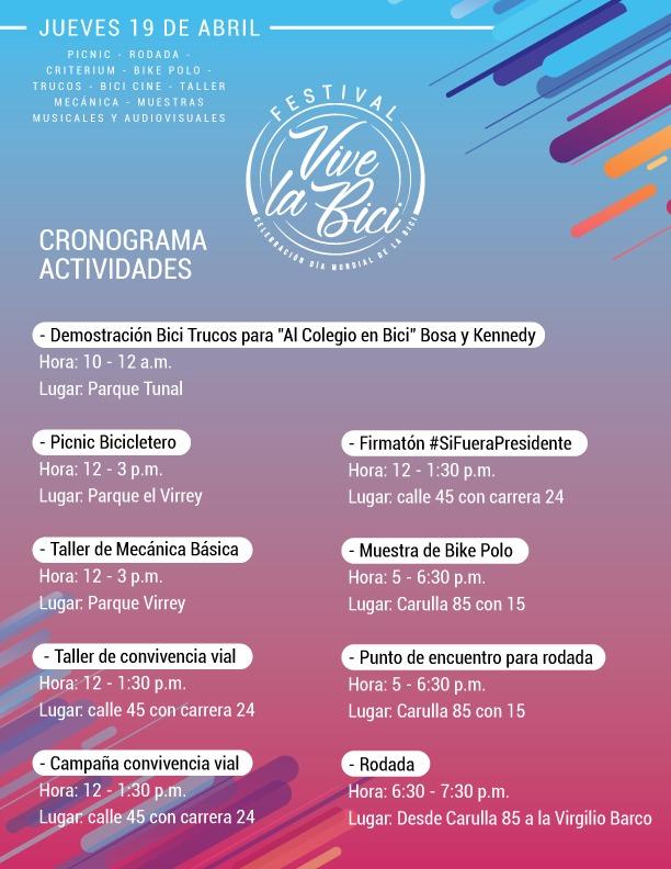 FESTIVAL VIVE LA BICI - PROGRAMACIÓN 002