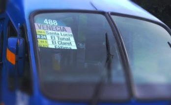 Tabla ruta urbana 488
