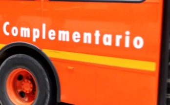 Foto lateral bus complementario naranja