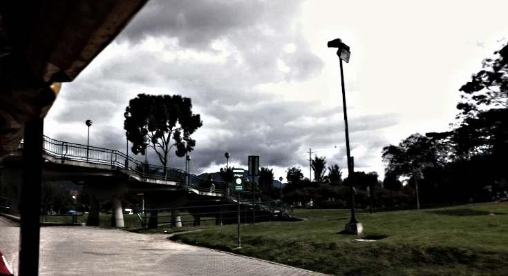 Vista del Parque Simón Bolívar desde el mini-tren infantil