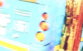 Parte posterior bus y luces traseras