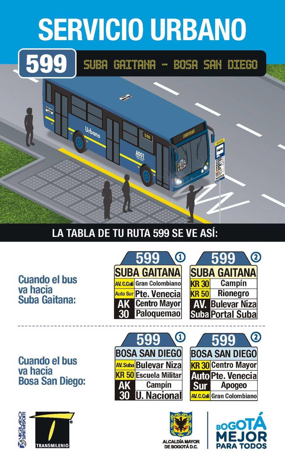 599 > Suba Gaitana - Bosa San Diego (volante cara A)