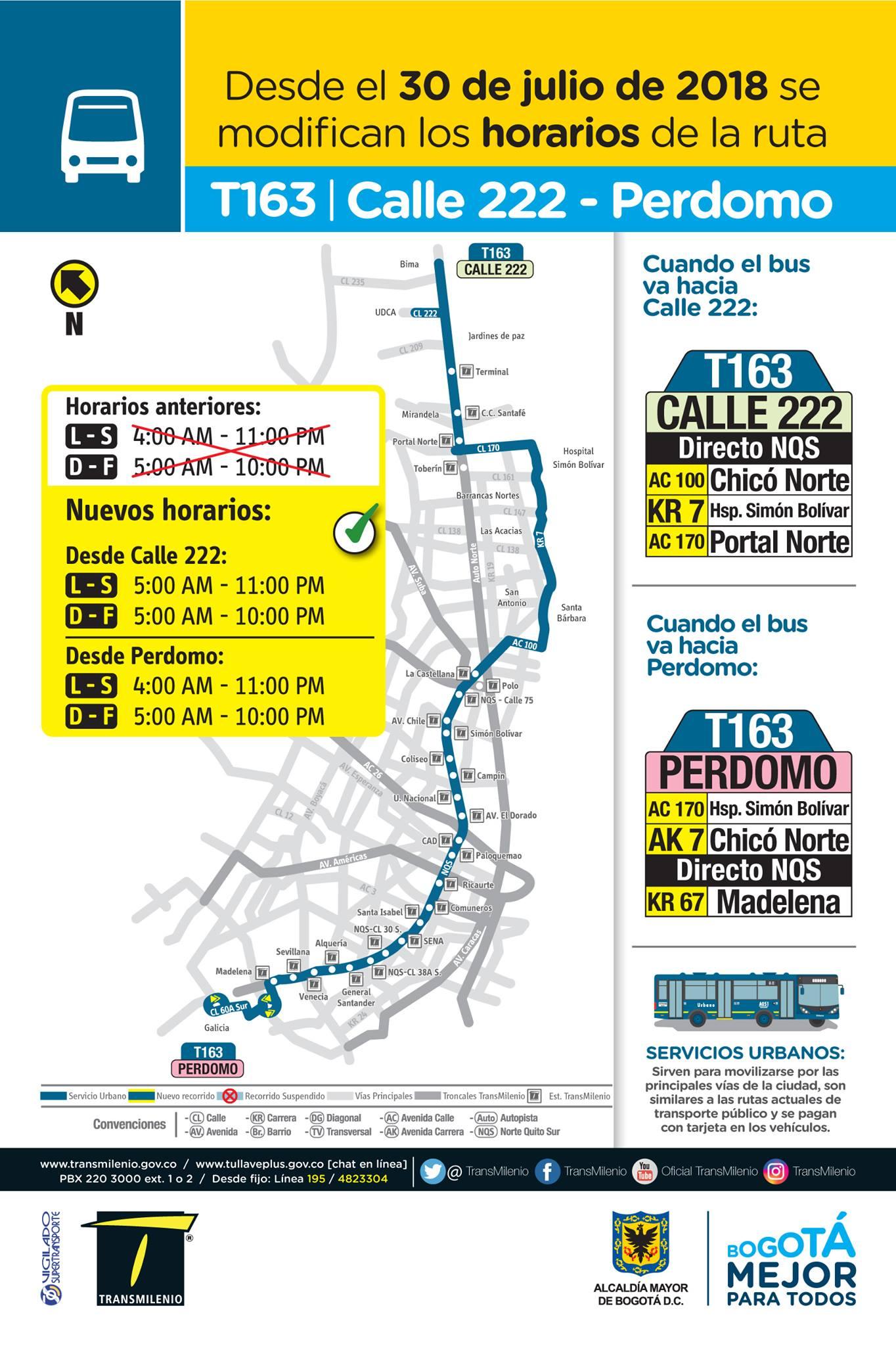 T163 > Calle 222 - Perdomo(mapa e información)