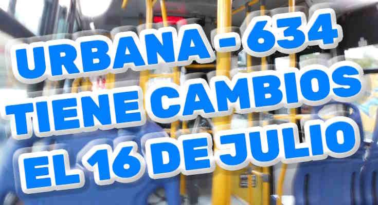 634 > Calle 183 - Bosa San Diego (aviso de cambios)