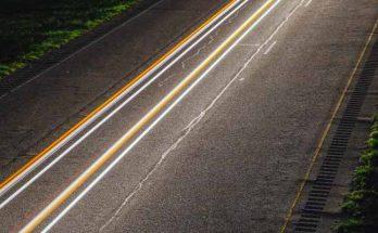 Carretera con efectos de luz