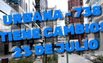 Cambios en urbana 738 del SITP