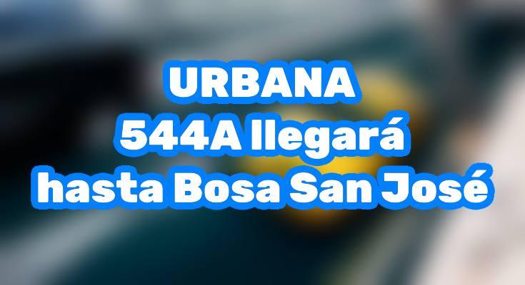 544A llegará hasta Bosa San José