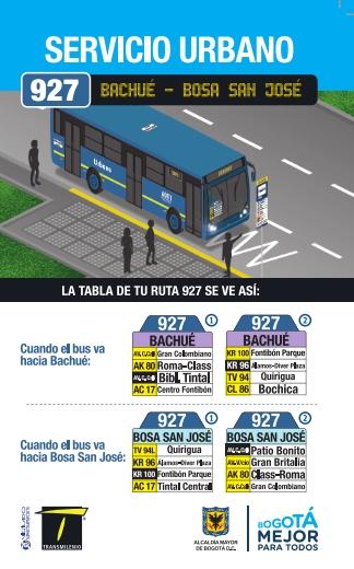 927 volante bus urbano desde el 4 de agosto 2018