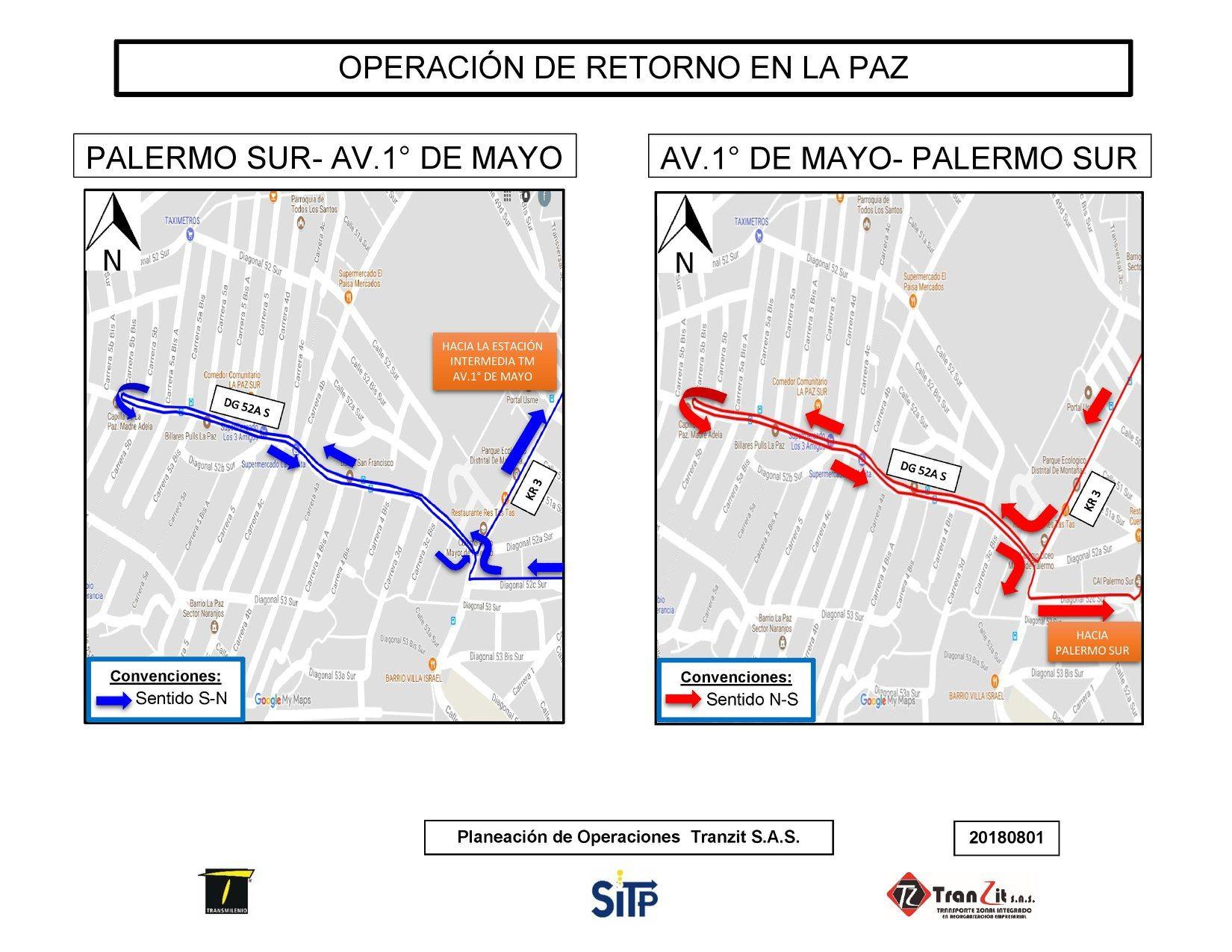 Operación de retorno en La Paz