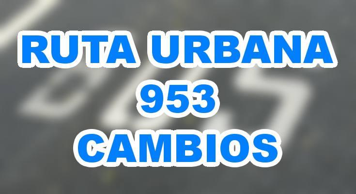 Mapa de la urbana 953 desde agosto 2018