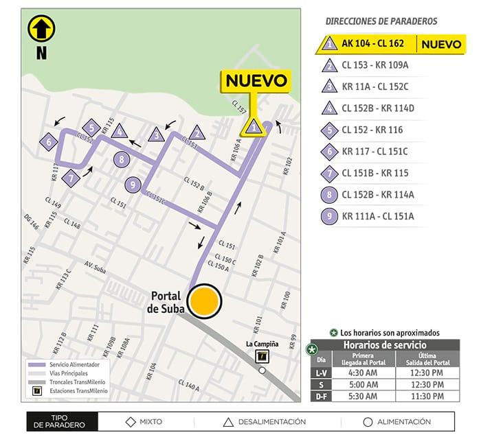 11-6 Las Mercedes - mapa de ruta
