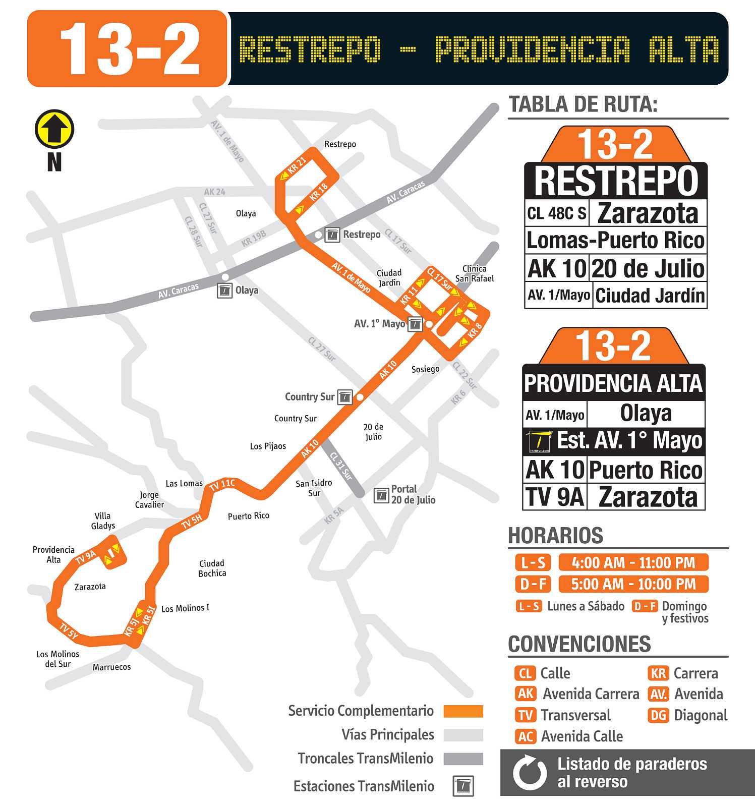 13-2 Retrepo - Providencia Alta (mapa desde 24 septiembre 2018)