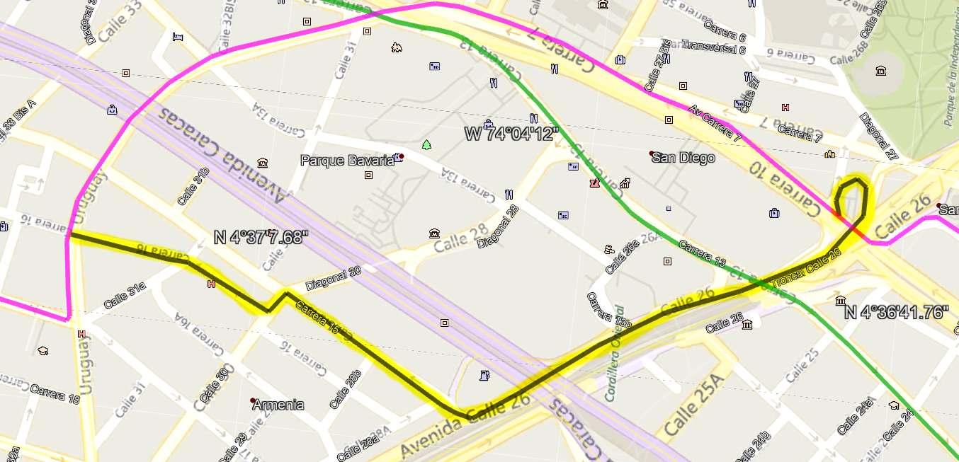 Ruta SITP: 688 La Magdalena ↔ Germania (ciclovía)