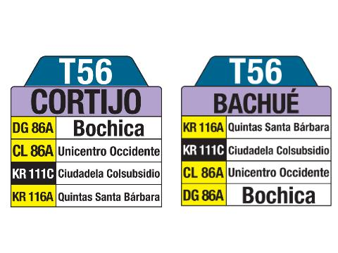 T56 > Cortijo – Bachué (tablas)