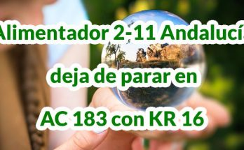 Alimentador 2-11 Andalucía deja de parar en AC 183 con KR 16