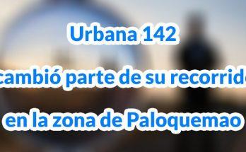 Urbana 142 cambió parte de su recorrido en la zona de Paloquemao
