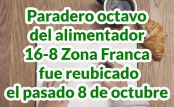 16-8 Zona Franca, mapa y paraderos