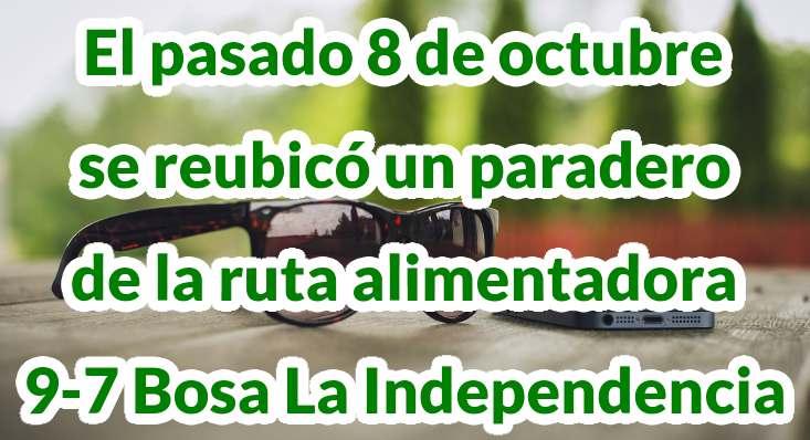 Paradas del alimentador 9-7 Bosa La Independencia
