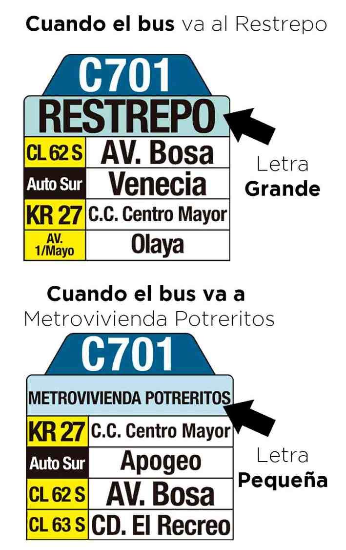 Tablas ruta C701 >Metrovivienda (Potreritos) - Restrepo
