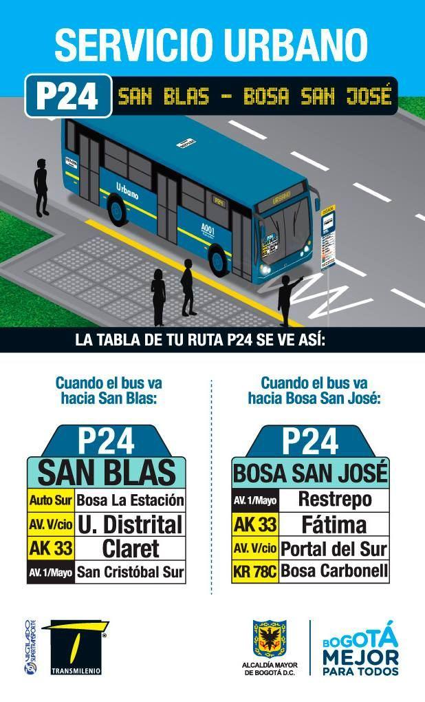 P24 > San Blas - Bosa San José (volante)