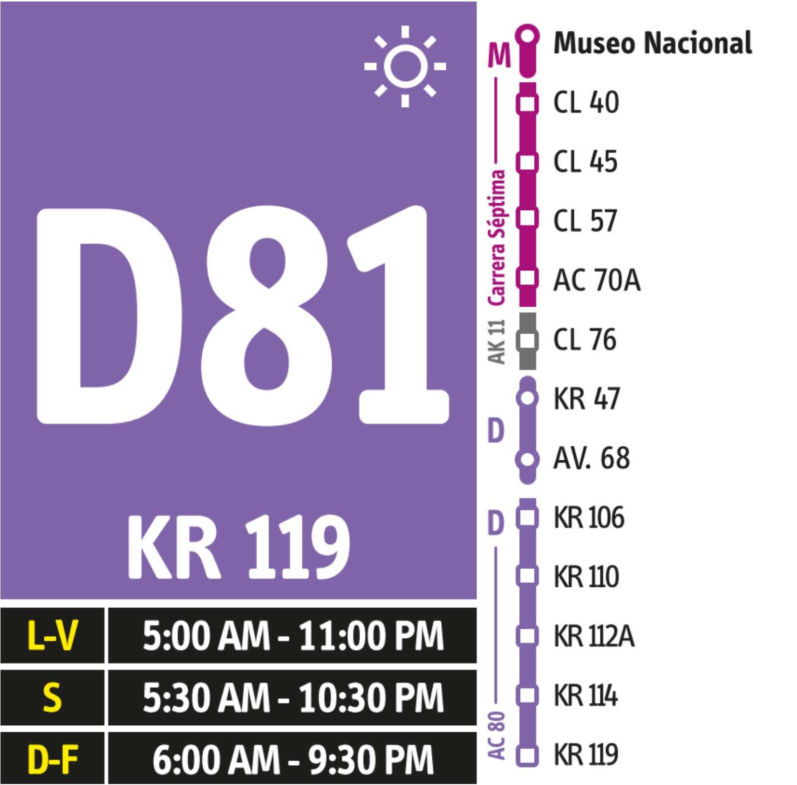 D81-M81 > Museo Nacional - Calle 80 Puente de Guadua