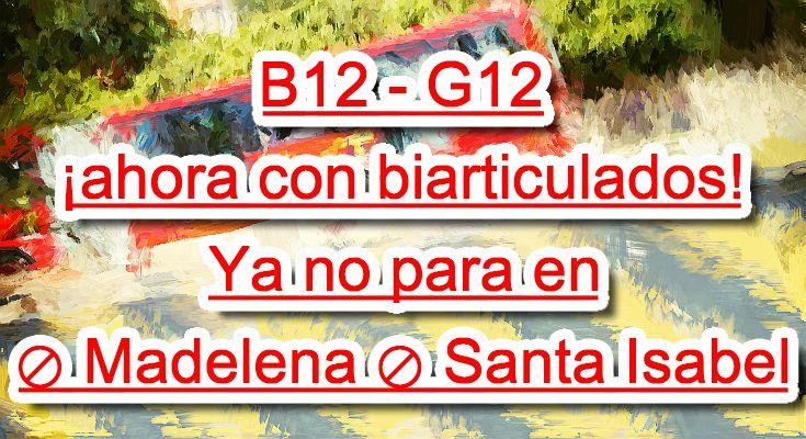 Viaja más cómodo en los nuevos buses biarticulados de la ruta B12-G12
