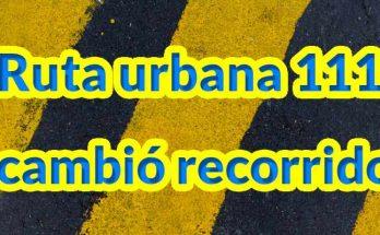 Nuevo recorrido de la ruta urbana 111 en Bogotá