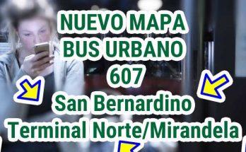 Nuevo recorrido de la ruta urbana 607