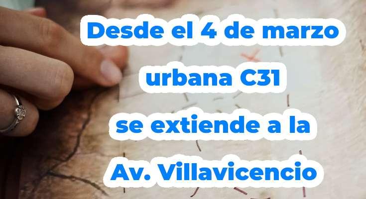 C31 urbana, extendida, SITP