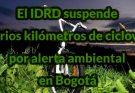 Cambios en la ciclovía por alerta ambiental en Bogotá