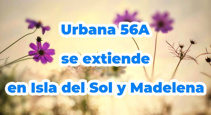 Extensión recorrido bus urbana 56A en Bogotá