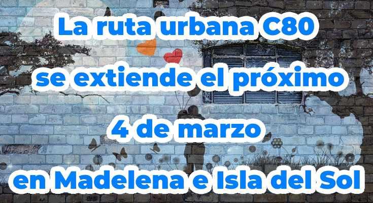 Extensión recorrido bus urbana C80 en Bogotá