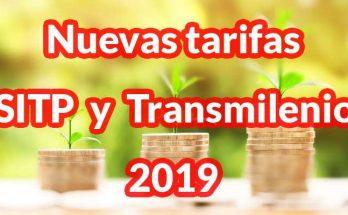 Nuevas tarifas SITP y Transmilenio