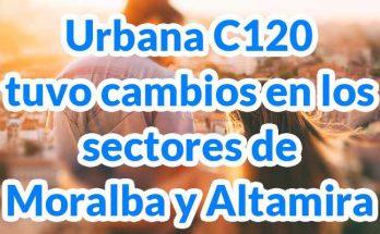 Nuevo recorrido de la ruta ruta urbanaC120 Villas de Granada - Gaviotas