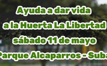 Evento recuperación de huerta en el Parque Alcaparros, Suba