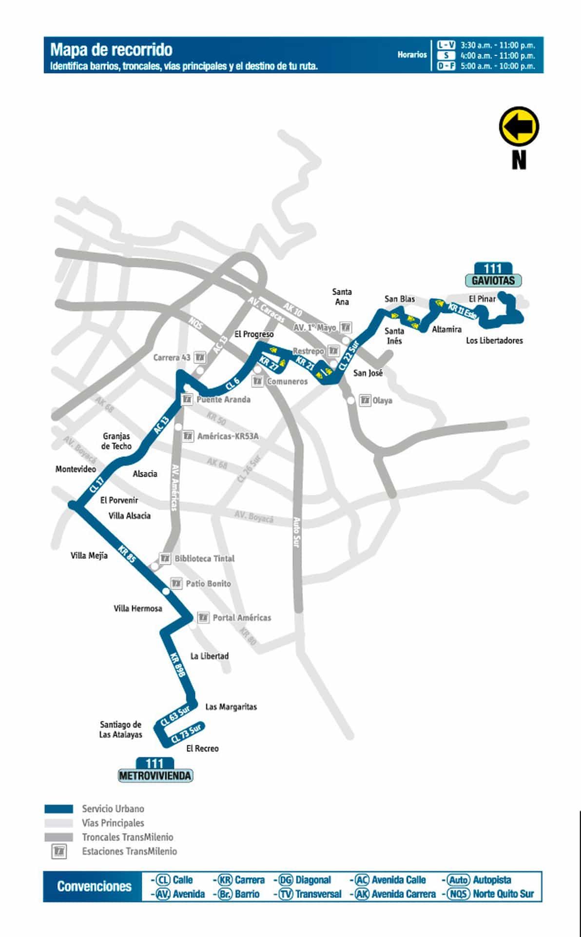 Mapa 111 Metrovivienda - San Rafael Sur Oriental