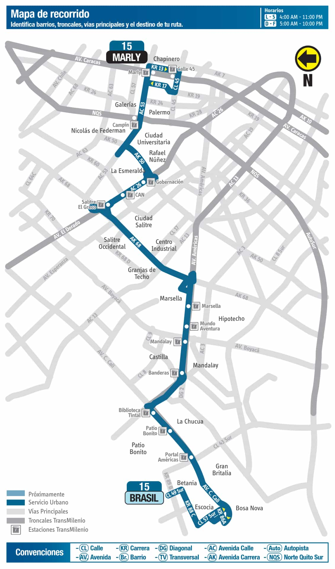 Mapa ruta urbana:: 15 Brasil - Marly