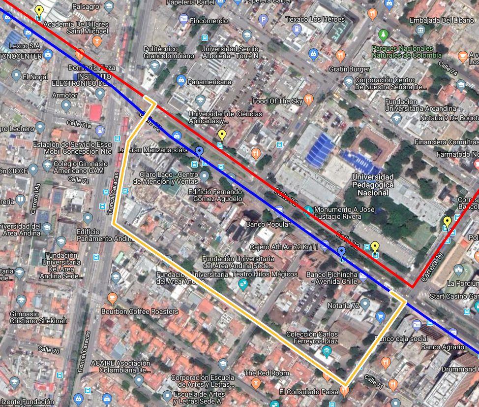 Desvíos por ciclovía (urbana 91)