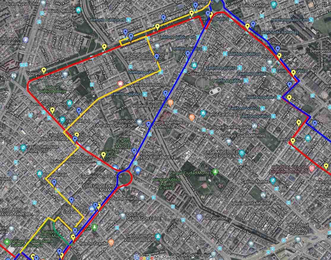 Desvíos por ciclovía - ruta urbana 97 (1)