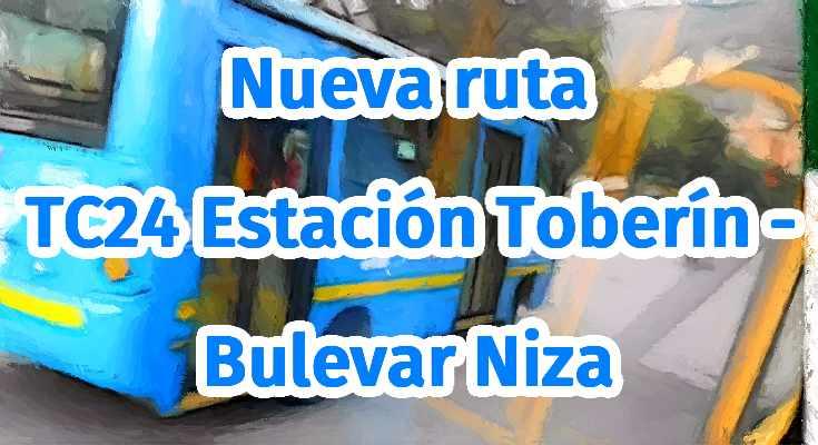 Ruta bus TC24 a Toberín y Bulevar