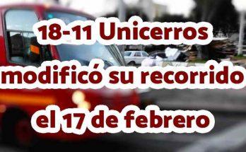 Especial 18-11 tuvo cambios el 11 de febrero de 2020