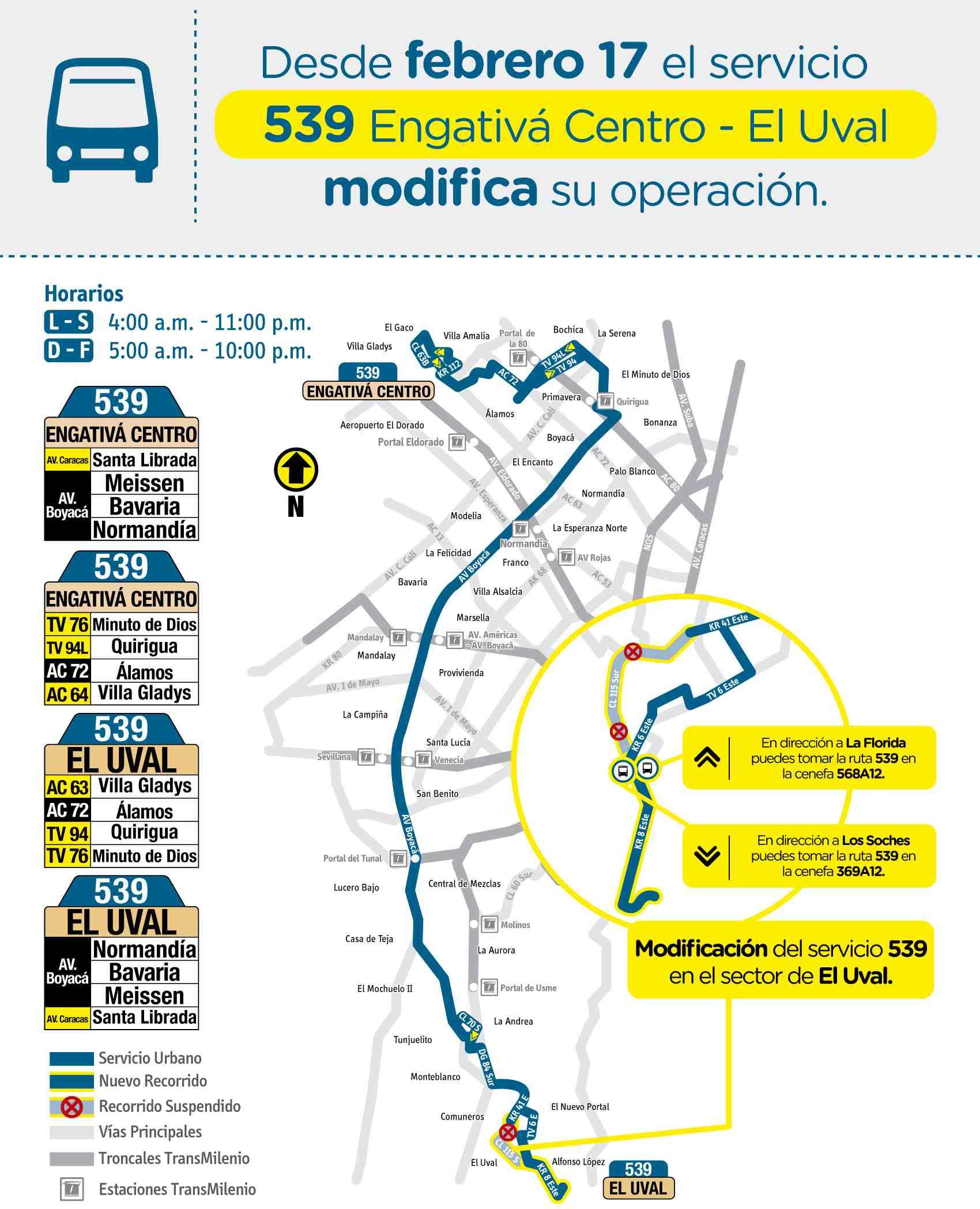 Mapa 539 - Engativá Centro - El Uval (actualización febrero 2020)