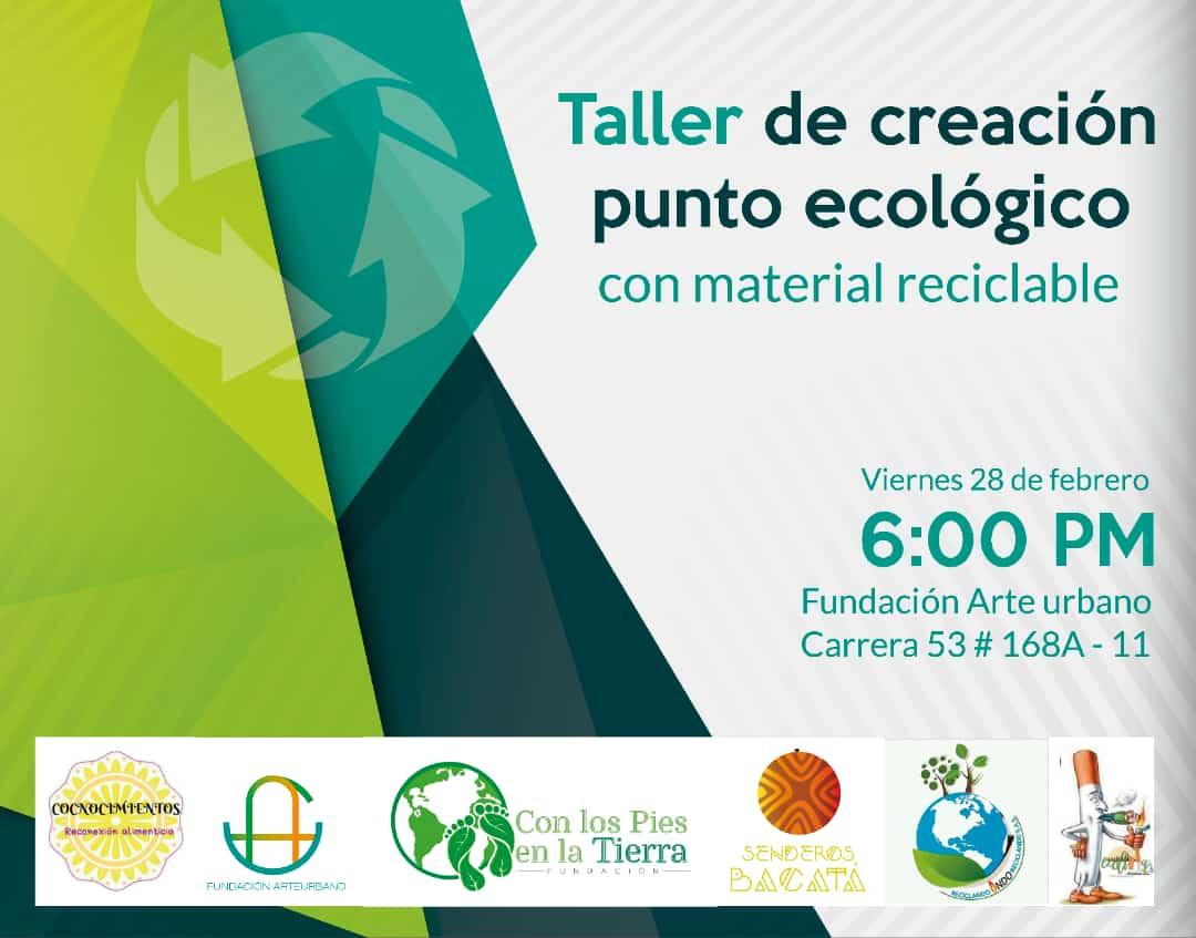 Taller de Creación de Punto Ecológico con material reciclable