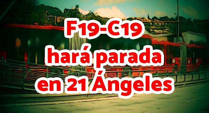 Aviso nueva parada en 21 Ángeles del C19-F19