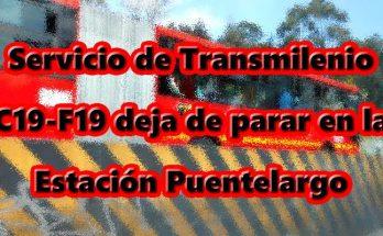 F19-C19 deja de parar en Puentelargo