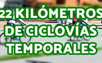 Aviso de la activación de 22 kilómetros de ciclovías temporales