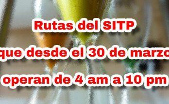 Aviso cambios de horarios en rutas del SITP por urgencia sanitaria