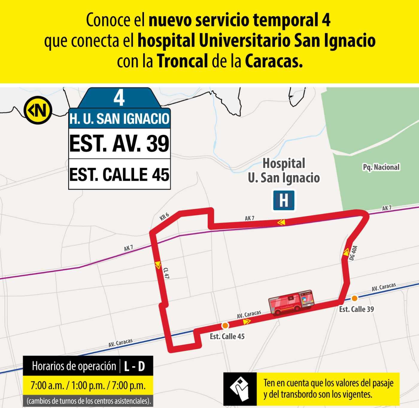Ruta 3 – Hospital Universitario San Ignacio (profesionales y trabajadores sector salud)