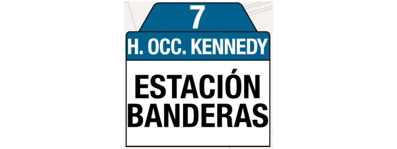 Ruta 7 – Hospital Occidente de Kennedy (profesionales y trabajadores sector salud), rutero, tablas y letreros